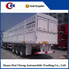 Hot Selling 3 axle 12 wheels cargo fence semi trailer