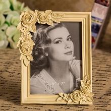 Wholesale European style antique gold rose wedding photo frame