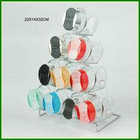 Glass salt and pepper shaker plastic lid
