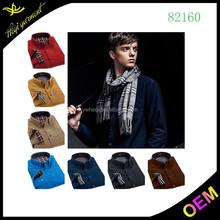 สีบริสุทธิ์high- endการออกแบบผ้าฝ้าย100%บุรุษเสื้อสำหรับขายส่ง