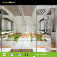 Clear Hollow Glass Balls Hollow Glass Pendants Partition Wall Tempered Glass Railing With CE Safety Laminated Balustrade Railing