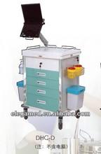 hospital multifunctional abs nurse trolley
