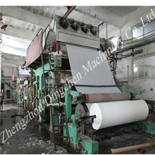 1880 mm small waste paper recycling machinery to produce toilet tissue paper