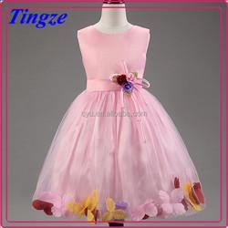 Wholesale boutique girls beautiful fairy tale princess pink color dress kids frocks designs TR-WS45