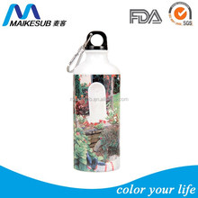 Sublimation stainless steel water bottle, white and sliver colors