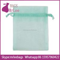 Custom cheap drawstring organza bags organza fabric bags pouch