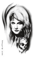 LC747S/New 2015 Horror waterproof fake halloween temporary tattoo sleeve for arm