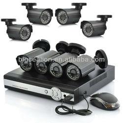 8Channel Home H.264 Network DVR & Bullet 900tvl Infrared Camera System