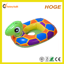 Tortoise shape inflatable swim ring with baby seat