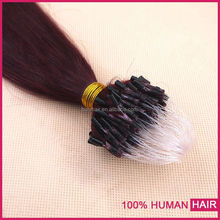 Raw virgin unprocessed russian kinky curly micro bead hair extension
