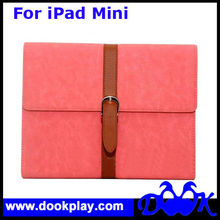 Wholesale Belt Button Leather Case For iPad Mini Cover