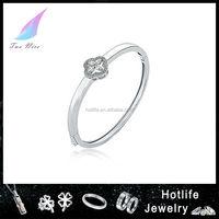 bijuteria wholesale four leaf sterling silver bangle bracelets wholesale