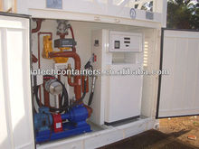 Diesel and Gasoline Refuel Container Station, fuel pumping