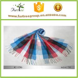 wholesale colorful fringed checked bandelet