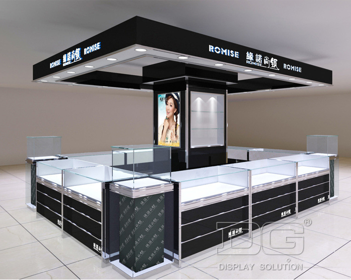 nouveau design de bijoux affichage kiosque centre. Black Bedroom Furniture Sets. Home Design Ideas