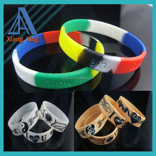 3/4'' Inch Silicone Wristband Wrist Band Merchandise Bracelet