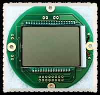 monochrome single line round lcd display module