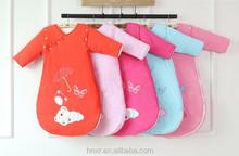 100% cotton sleeping bag kicking preventing is manufacturer wholesale baby spring autumn winter newborn sleeping bag