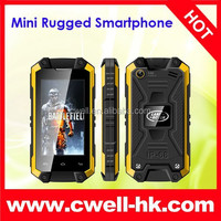 J5 Mini Android 4.2 Dual Core 3G IP54 grade waterptoof very small size rugged mobile phones