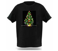 merry Christmas shirt EL light up music dance t-shirt