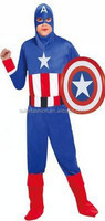 TF-01150908005-D5 New Halloween the avengers Captain America cosplay 4-piece Suit costume set ,clothing for men