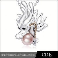 One Dollar Wholesale Fashion Dragon Necklace Jewelry N0160B