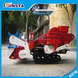 self-propelled rice harvest machine used as grass harvesting machine