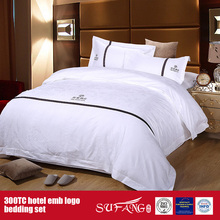 100Cotton Embroidery Hotel Logo Bedding Set Hotel Sheets
