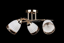 Classic glass ceiling light/Russian style glass chandelier gold color
