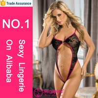 wholesale ladies adult bed wear see through hot lace one piece teddy sexy lingerie