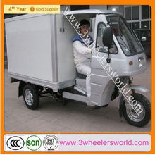 Motorized driving type Cargo use for 200cc Closed body type three wheel motorcycle cabin tricycle three wheeler