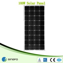 Mono 100W solar panel manufacturers in china 100W
