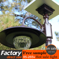 new design customized high quality and low price outdoor led solar garden light with high pole