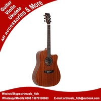 acoustic guitar with none binding of japanese music instruments