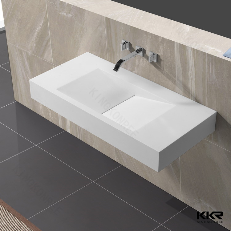 Kingkonree mobile moderne mini solide surface lavabo - Mini lavabo salle de bain ...
