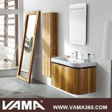 Hotel Waterproof Modern Solid Wood Bathroom Vanity Cabinet