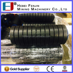 Conveyor Trough Roller, Rubber Coated Steel Pipe Rollers, Impact Trough Roller