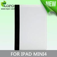 Sublimaton book style leather case for IPAD MINI 4