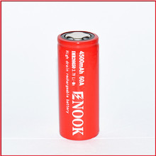 global hot! Enook 26650 4500mAh 60A 3.7V IMR rechargeable battery with special price
