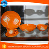 famous products made in china orange ceramic dinnerware