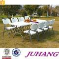 Plástico mesas plegables y sillas para eventos