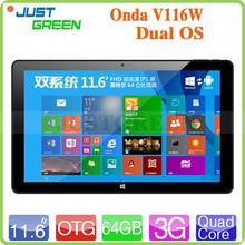 Fashion! Onda 11.6 inch Intel Z3736F Quad Core CPU win8 dual os android tablet pc E-book RAM 2GB High Performance!