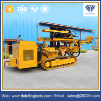 Hot sale 65-225mm drilling diameter Crawler Top Drive Head Portable Water Well Drilling Rig