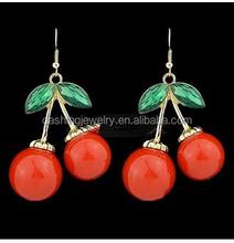 Sweet Red Cherry Love Fruit Meaning Faceted fruit shaped earrings earrings cherries