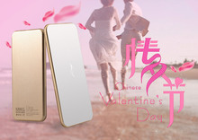 5000 mAh Ultra Slim Mirro Portable Golden Power Bank with thickness 138x67x7mm (Sme size as Iphone6)