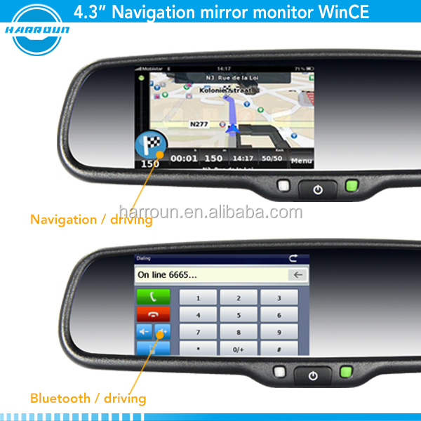 rearview mirror radar detector with garmin gps gps navigation rearview mirror touch screen. Black Bedroom Furniture Sets. Home Design Ideas
