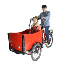 CE Danish bakfiets family pedal assisted electric cargo trike bike three wheel bicycle