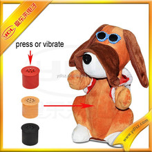 Electric talking and walking plush stuffed toys, plush motion activated voice toys