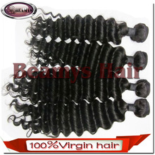 Double Weft Hair Extension Sexy And Fascinating Good Quality Brazilian Deep Wave Hair