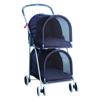 Blue Double Deck Pet Stroller